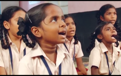 At this Kancheepuram village school, students learn not to roll their R's so they get their English accents right