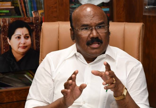 Jayakumar challenge to center met with IT raids against highways contractor